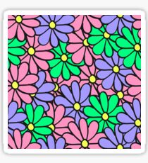 Colorful doodle seamless of many chamomiles Sticker