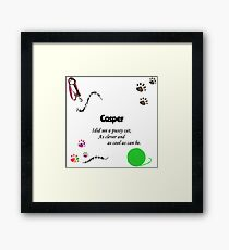 Casper - my best friend Framed Print