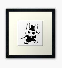 rabbit step dancer Framed Print