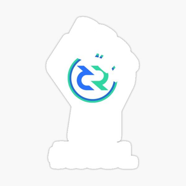 HODL Decred-Fist HODLing DCR Logo-white Sticker
