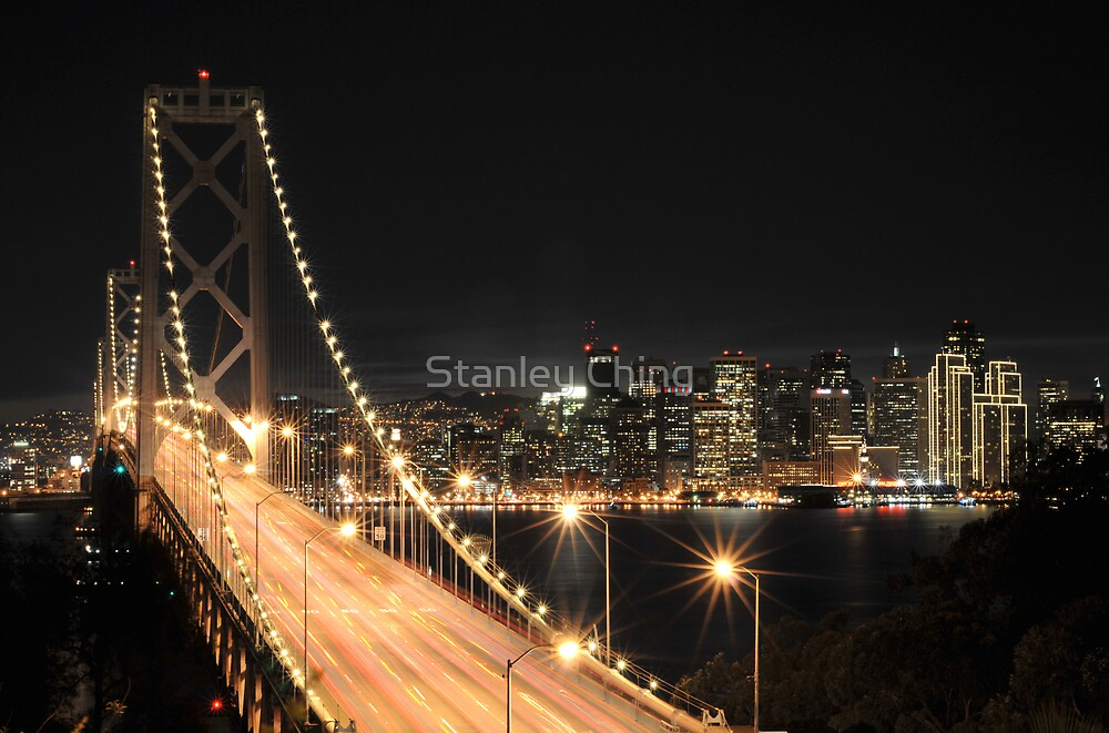 The Bay at Night by Stanley Ching