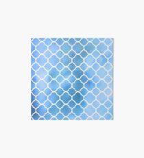 Quatrefoil Shape, Watercolors - Blue White Art Board