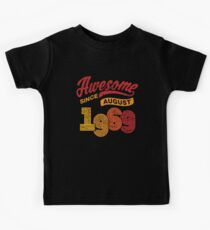 Awesome Since August 1969 Shirt Vintage 49th Birthday Kids Tee