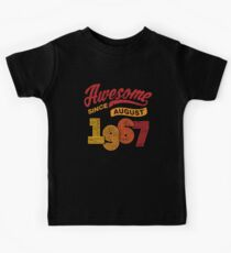 Awesome Since August 1967 Shirt Vintage 51st Birthday Kids Tee
