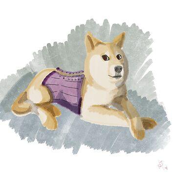 Doge in a Corset by RageGrenade