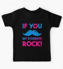 If You Mustache My Students Rock Funny Teacher Kids Tee