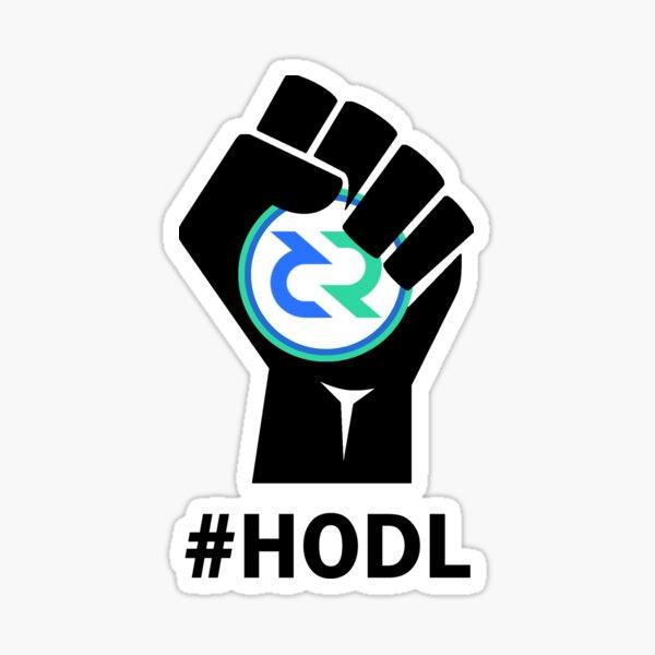 HODL Decred-Fist HODLing DCR Logo-black Sticker