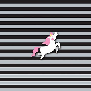 Unicorn on super cool stripes by jazzydevil