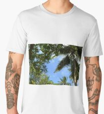 Palm trees and the blue sky background Men's Premium T-Shirt