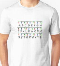 Stranger Things Christmas Lights Alphabet Unisex T-Shirt