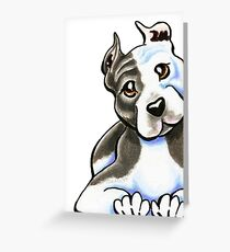 Amstaff Lean on Me Greeting Card