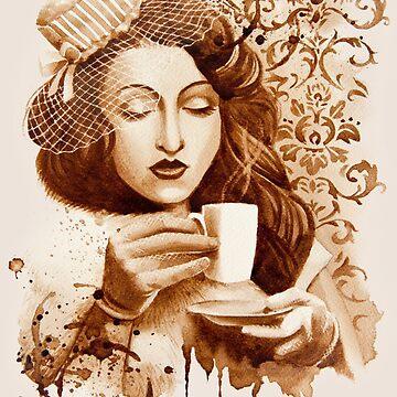 Espresso Lady by FrancoisArt