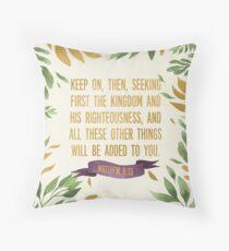 Matthew 6:33 (Palm) Throw Pillow