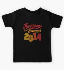 Awesome Since September 2014 Shirt Vintage 4th Birthday Kids Tee