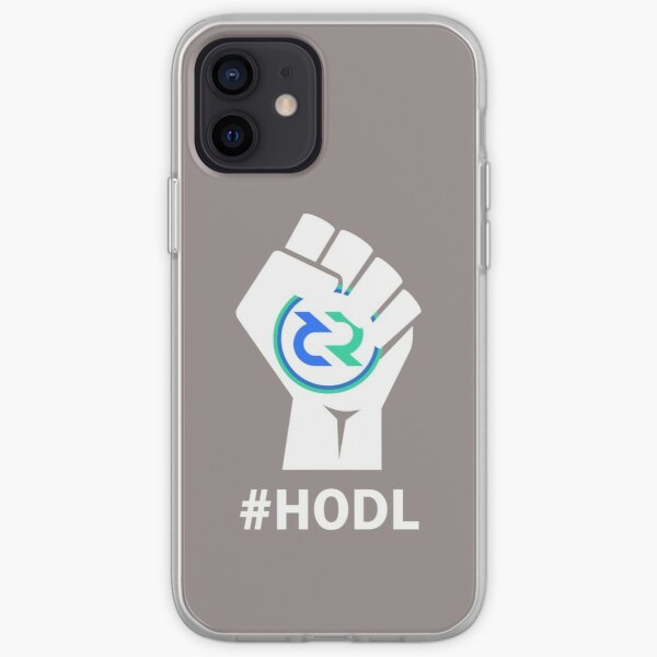 HODL Decred-Fist HODLing DCR Logo-white iPhone Soft Case