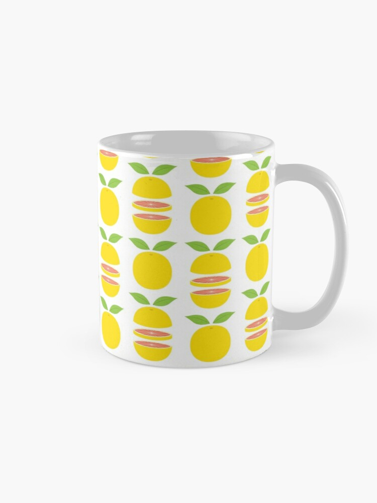 Alternate view of Grapefruits whole and sliced Mug