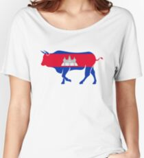 Flag Kouprey of Cambodia Women's Relaxed Fit T-Shirt
