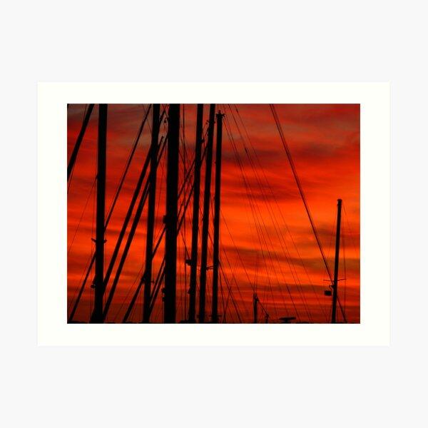 Merah Masts Art Print