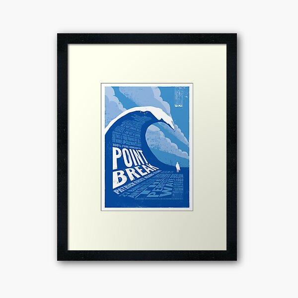 Point Break - reworked Framed Art Print