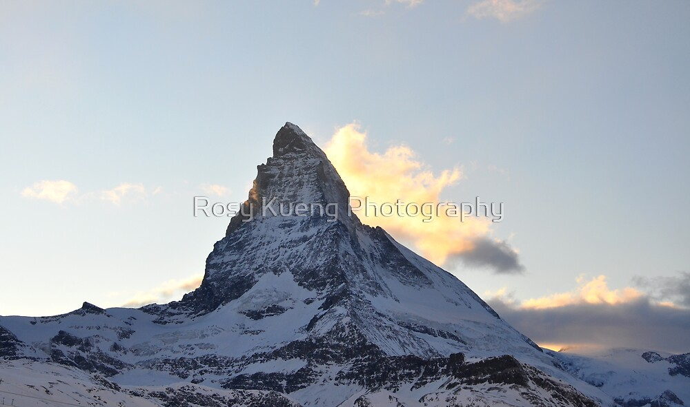 Matterhorn at Sunset 2 by Rosy Kueng Photography