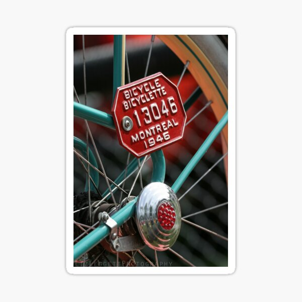 Montreal Bicycle - Liz Leggett Photography Sticker