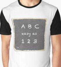 ABC easy as 123 Graphic T-Shirt