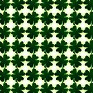 Emerald Green St. Patrick's Day Shamrocks by Shelley Neff