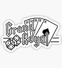 Pegatina Grand Royal (negro)