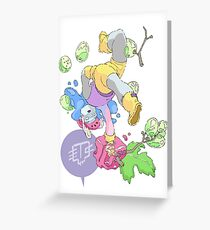 Jelly Grapes Greeting Card