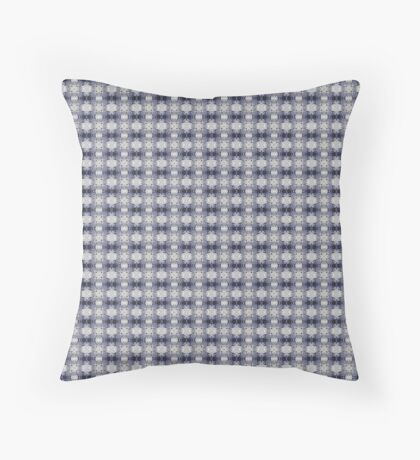Punky Purple and Gray Pattern Throw Pillow
