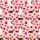 Beagle valentines day cupcakes heart love dog breed must have gifts by PetFriendly