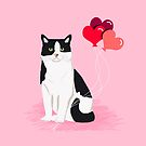 Cat valentines day love heart balloons cat breed must have  by PetFriendly