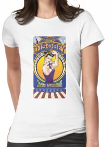Disobey - Art Nouveau style Rosie the Riveter retro style pin up graphic Womens Fitted T-Shirt