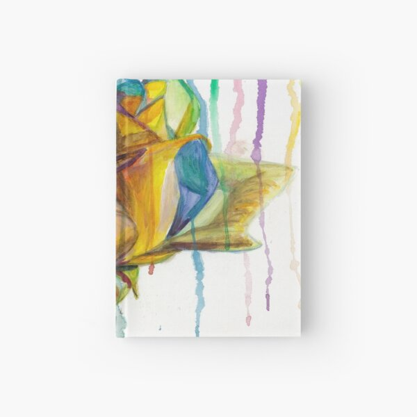 Rainbow Rose Hardcover Journal