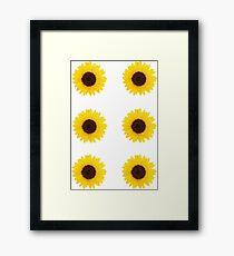 Six Sunflowers Framed Print