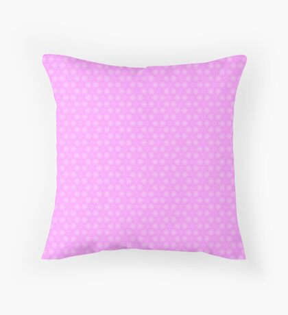 Lavender and White Pastel Star Abstract Pattern Throw Pillow