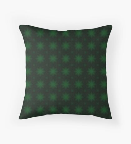St. Patricks Green Starburst Abstract Pattern Throw Pillow