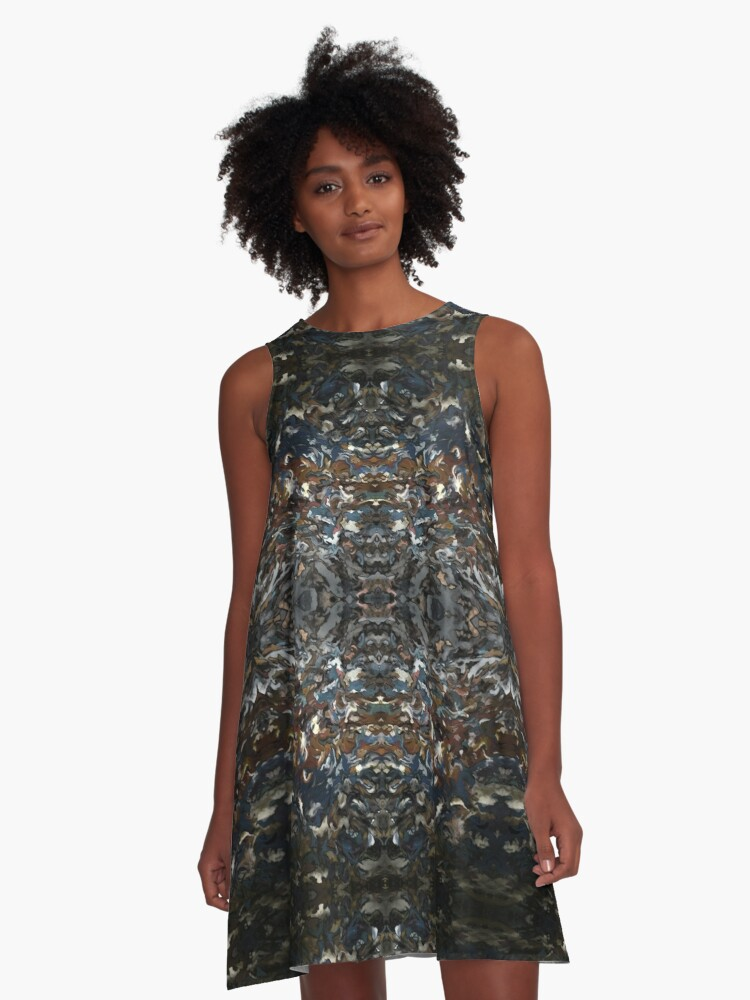 Any Mountain Can Erupt A-Line Dress Front