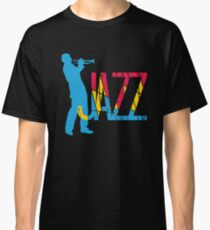 Colorful Jazz Trumpet Player Classic T-Shirt