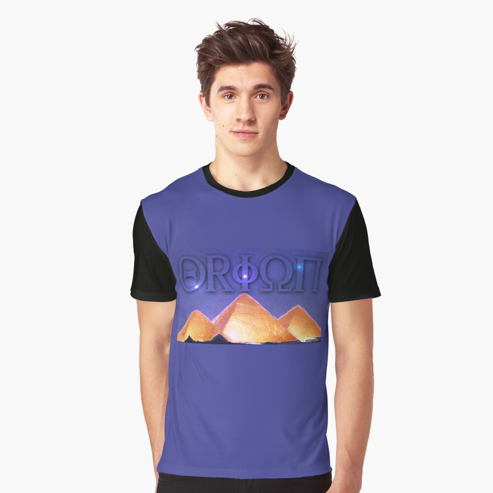 Orion's Belt and the Pyramids Graphic T-Shirt Front