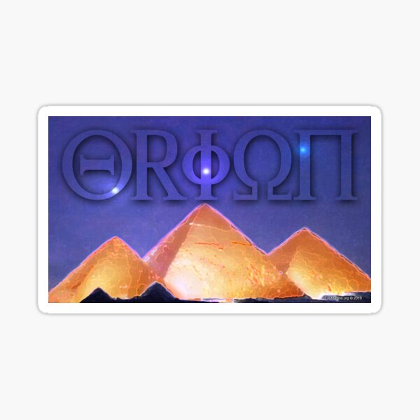 Orion's Belt and the Pyramids Sticker