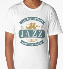 Vintage Jazz Badge Featuring Jazz Musicians Long T-Shirt