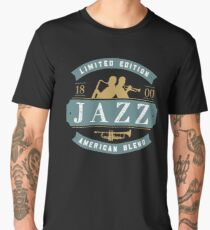 Vintage Jazz Badge Featuring Jazz Musicians Men's Premium T-Shirt