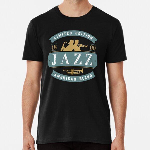 Vintage Jazz Badge Featuring Jazz Musicians Premium T-Shirt