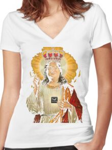 Our Lord Gaben T-Shirt Women's Fitted V-Neck T-Shirt