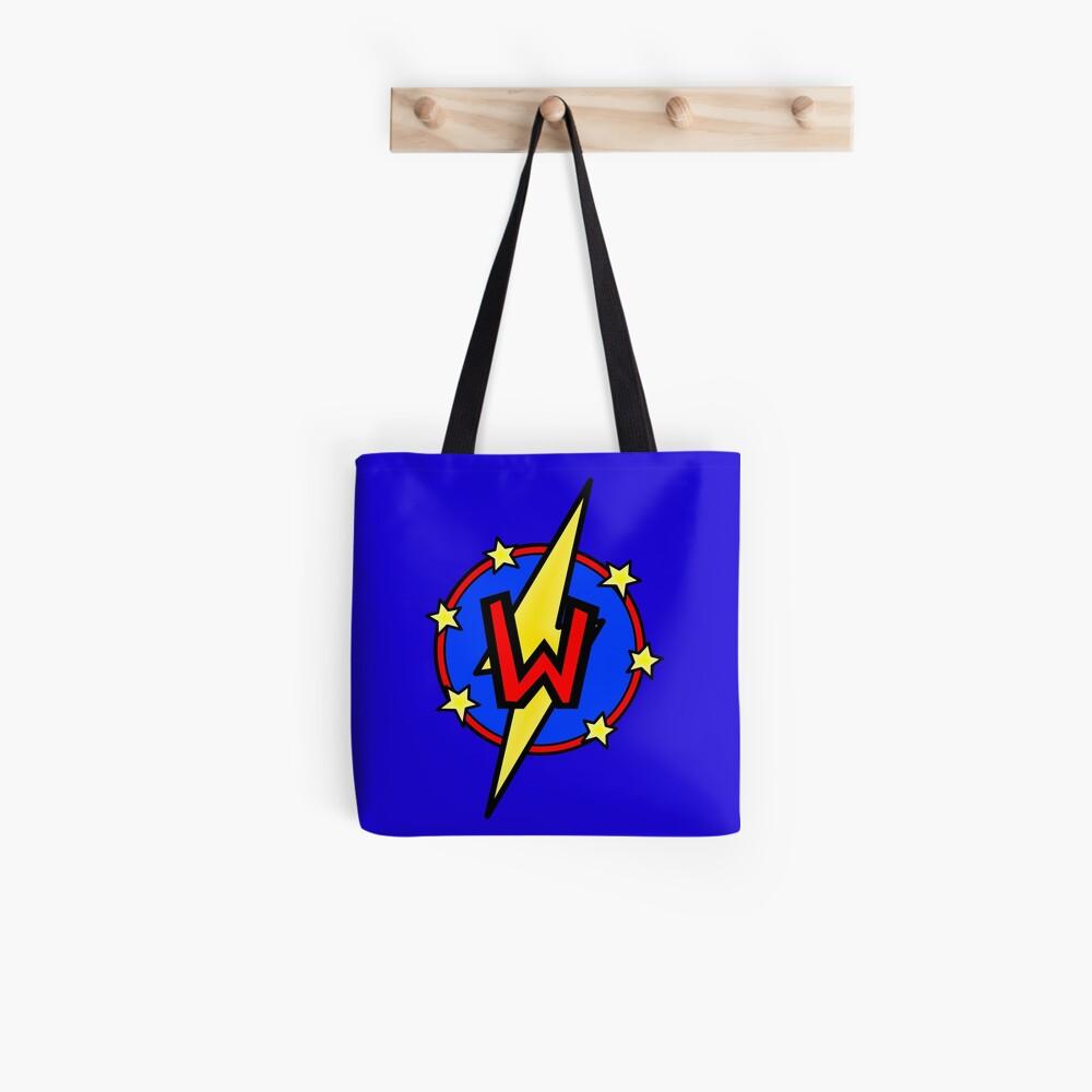 Cute Little SuperHero Geek - Super Letter W Tote Bag