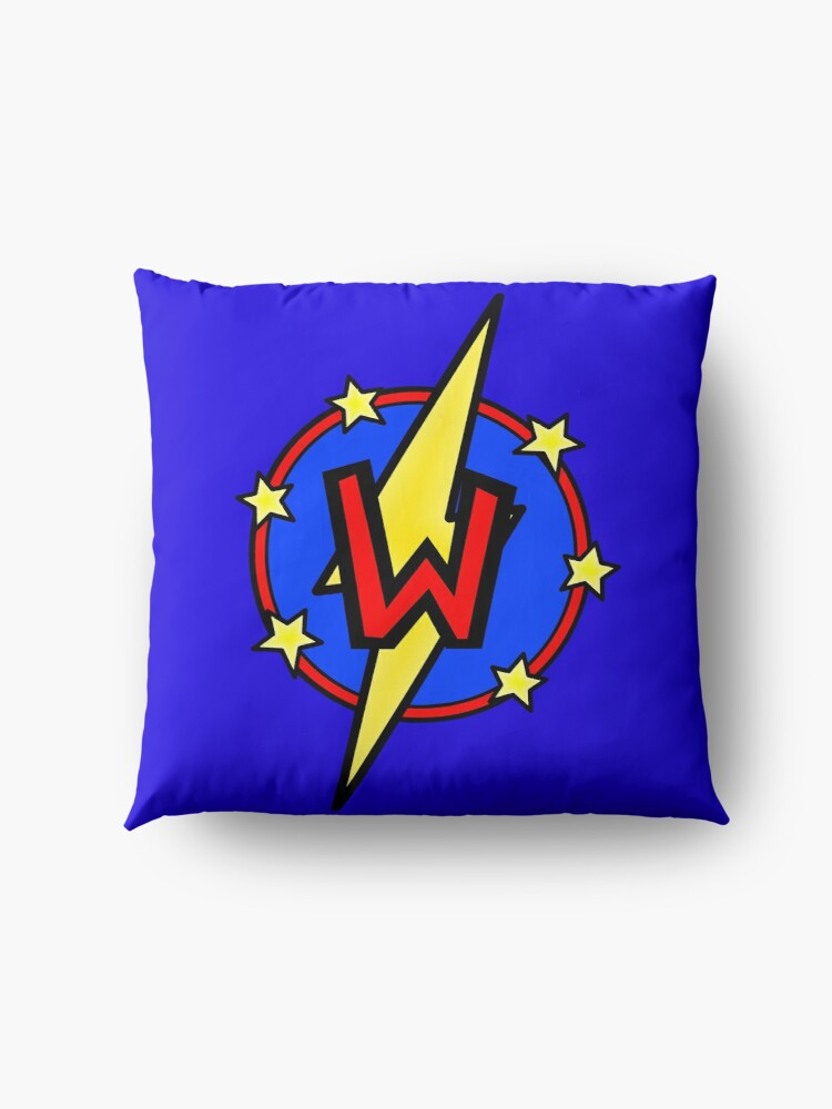 Alternate view of Cute Little SuperHero Geek - Super Letter W Floor Pillow
