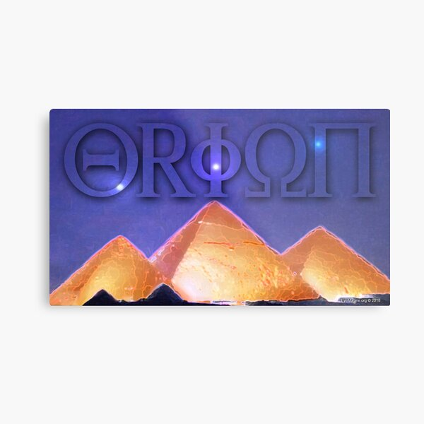Orion's Belt and the Pyramids Metal Print