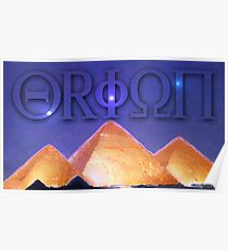 Orion's Belt and the Pyramids Poster