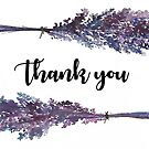 Lavender Thank You Card // Blank Inside by AnnasEyeforArt
